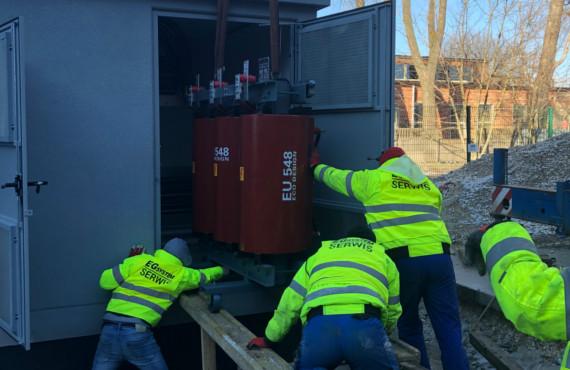 Transformatory suche żywiczne w stacjach transformatorowych kontenerowych zewnętrznych